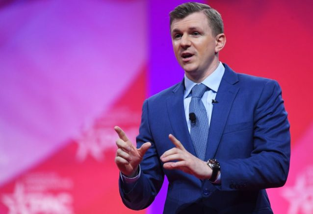 Conservative political activist James O'Keefe speaks during the annual Conservative Political Action Conference (CPAC) in National Harbor, Maryland, on March 1, 2019. (Photo by MANDEL NGAN / AFP) (Photo by MANDEL NGAN/AFP via Getty Images)