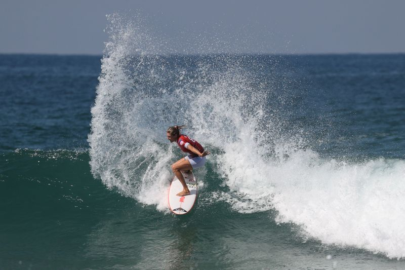 Surfer Stephanie Gilmore of Australia is seen at a WSL competition in Sydney