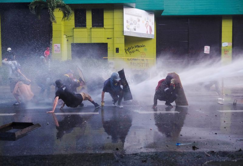 FILE PHOTO: Anti-government demonstrations continue in Medellin