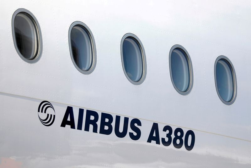 FILE PHOTO: FILE PHOTO: Airbus Airplane at Paris Charles de Gaulle airport in Roissy-en-France