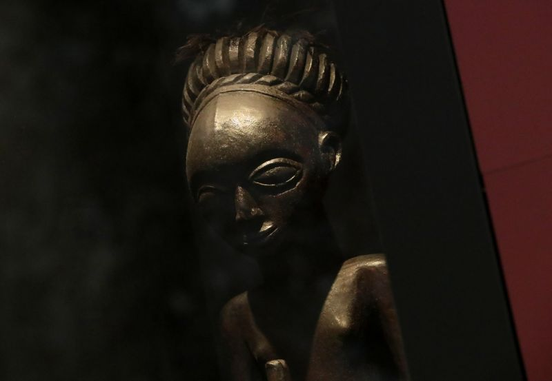 Belgian government announces plans to return pieces of art looted from Congo during colonial rule, in Tervuren