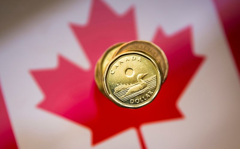 FILE PHOTO: FILE PHOTO: A Canadian dollar coin, commonly known as the