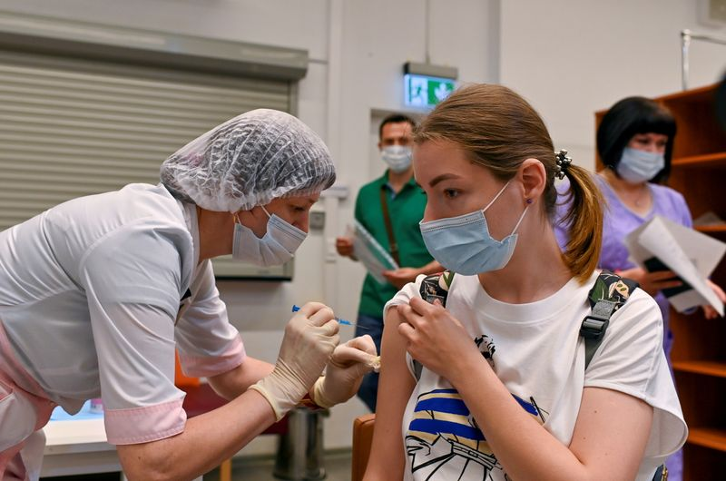 FILE PHOTO: Vaccination against the coronavirus disease (COVID-19) in Omsk