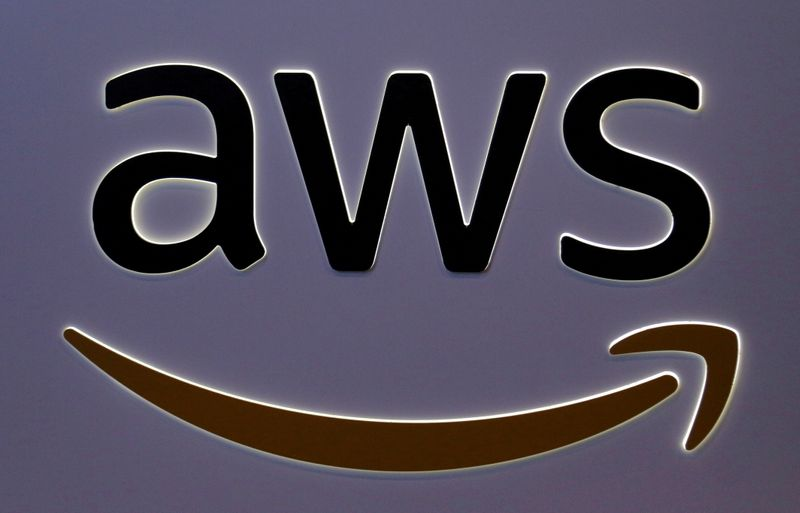 FILE PHOTO: The logo for Amazon Web Services (AWS) is seen in Toronto