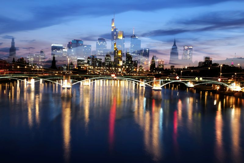 FILE PHOTO: The skyline with the banking district in Frankfurt