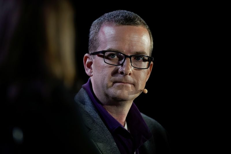 Mike Schroepfer, Chief Technology Officer at Facebook speaks at the WSJTECH live conference in Laguna Beach, California