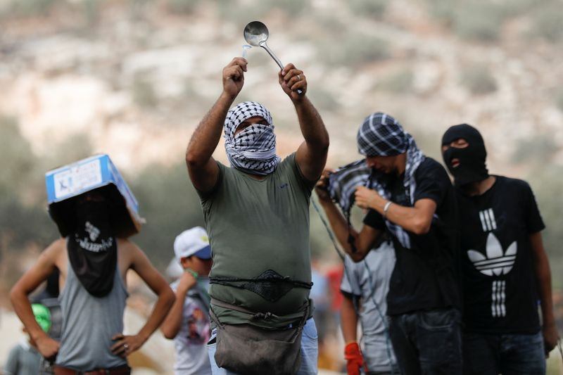 Protest in solidarity with Palestinian prisoners in Israeli jails, in West Bank