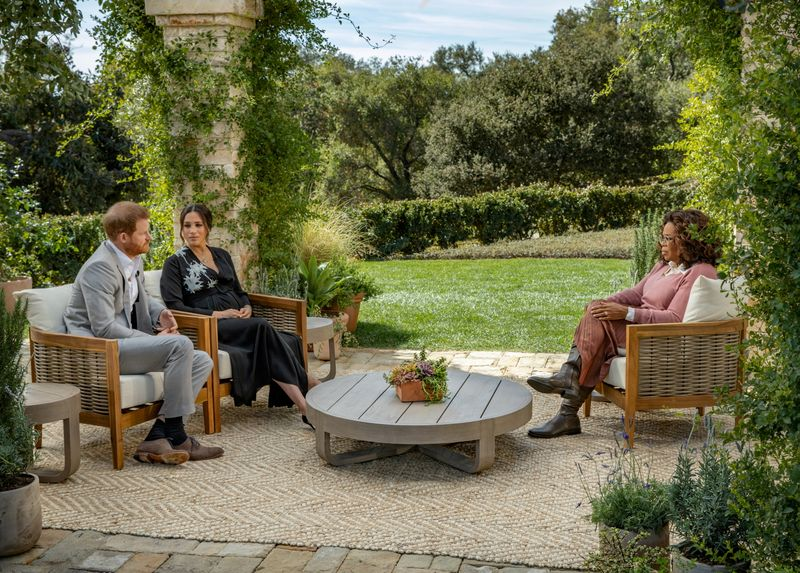 FILE PHOTO: Meghan and Harry give interview to Oprah Winfrey