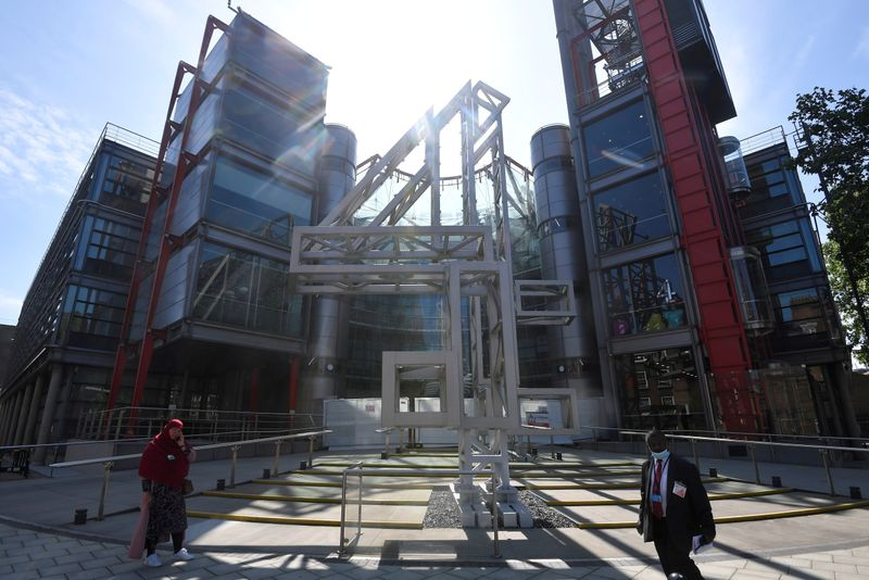 FILE PHOTO: Channel 4 television channel offices seen in London