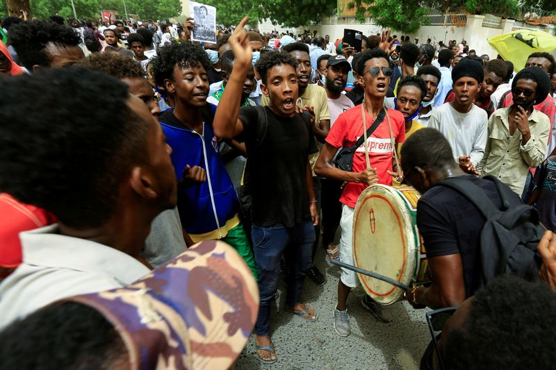 FILE PHOTO: Sudanese march against paramilitary Rapid Support Forces