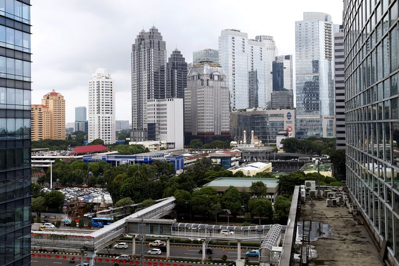 General view of Sudirman Central Business District (SCBD), following the coronavirus disease (COVID-19) outbreak, in Jakarta