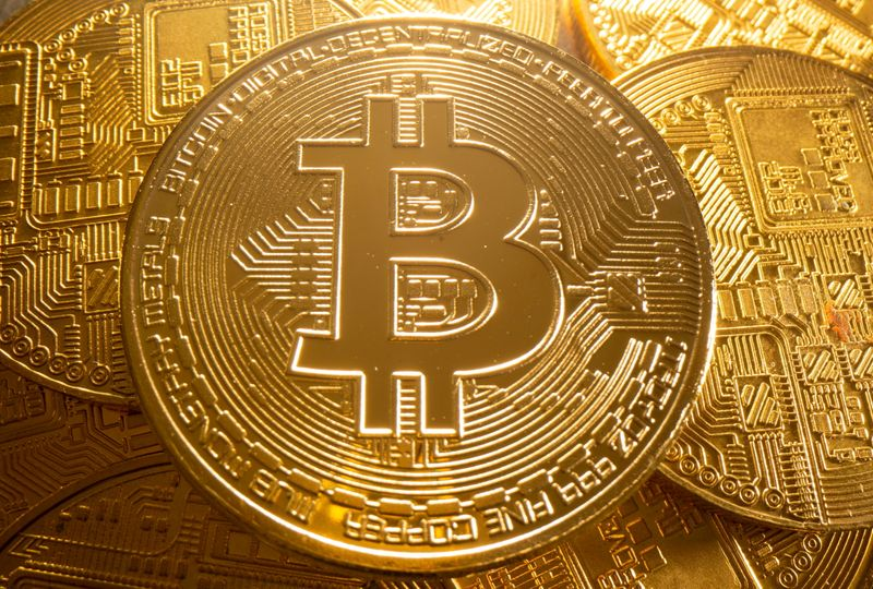 FILE PHOTO: FILE PHOTO: Representation of cryptocurrency Bitcoin is seen in this illustration