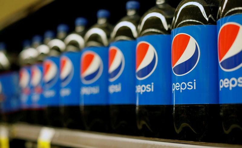 FILE PHOTO: Bottles of Pepsi are pictured at a grocery store in Pasadena