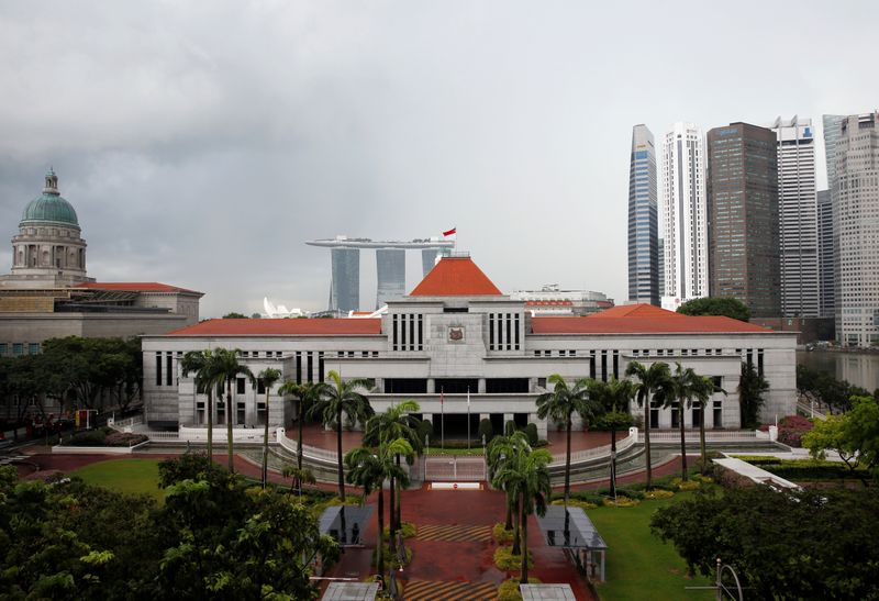 A general view of the Parliament House in Singapore