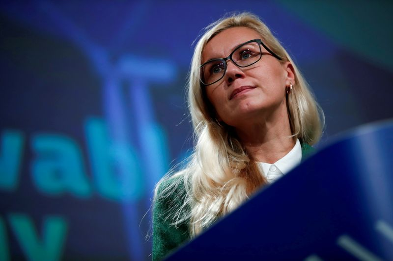 FILE PHOTO: EU climate chief to present offshore renewable energy plan