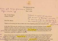 "Retired teacher critiques ""appalling"" letter signed by Trump"
