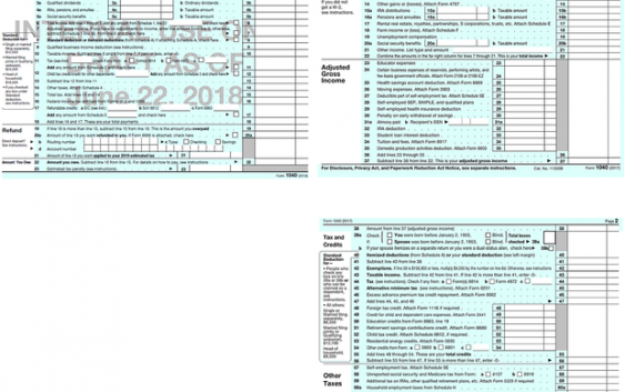 Here S The New Postcard Sized Irs Form 1040 Fan