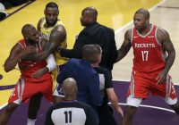 Brawl breaks out at LeBron James' LA debut