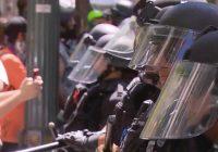 "Heavy police presence in Washington for ""Demand Free Speech"" rally"