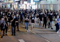Hong Kong protesters stage peaceful rally, 1 week after violent break-ins