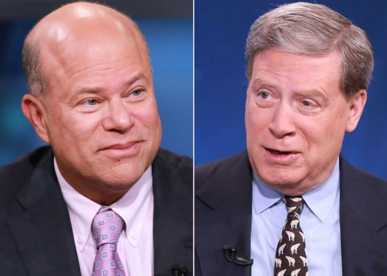 Hedge fund legends David Tepper and Stanley Druckenmiller tell CNBC they're both still bullish, for now