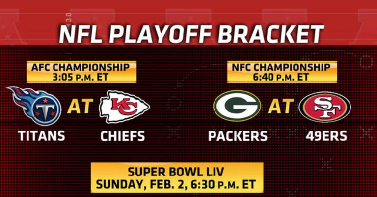 Titans face Chiefs, Packers battle 49ers for trips to Super Bowl