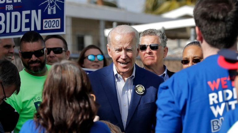 Biden casts Sanders, Bloomberg as party posers