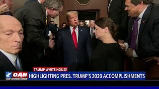Highlighting President Trump's 2020 accomplishments