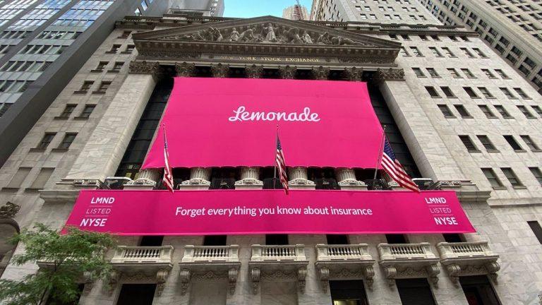 Lemonade shares squeeze higher in stock market debut