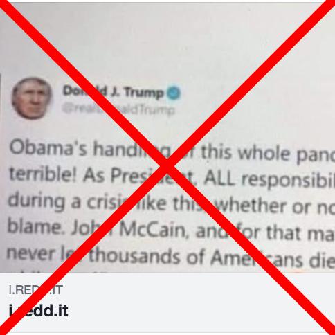 Trump Didn't Tweet In 2009 That He 'Would Never Let Thousands' Die in Pandemic