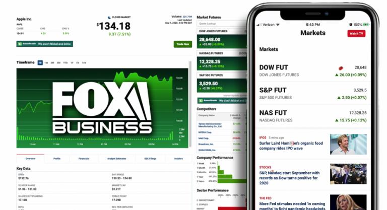 FOX Business enhances portfolio tracker, real-time market data