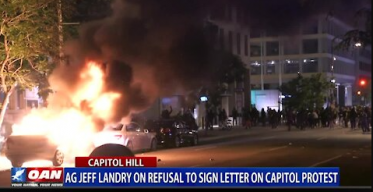 AG Jeff Landry on refusal to sign letter on Capitol protest
