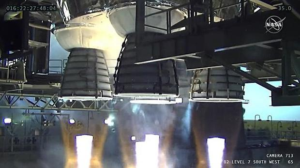 Moon rocket test firing aborted after engine shutdown