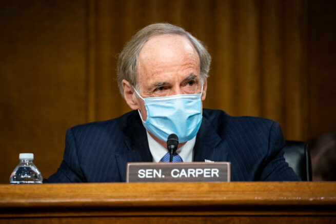Sen. Tom Carper announces bill to give D.C. statehood