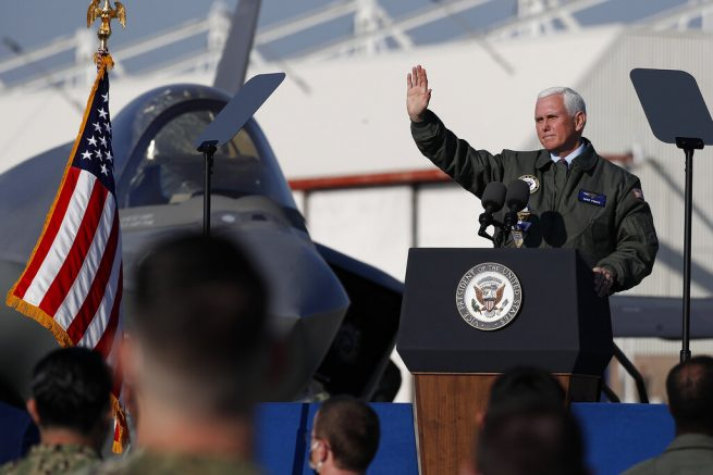 VP Pence, Second Lady speak at Lemoore Naval Air Station