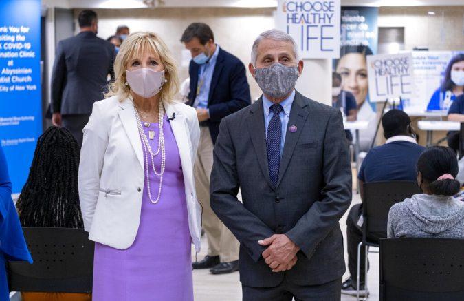 Protesters denounce Dr. Fauci, Jill Biden in Brooklyn